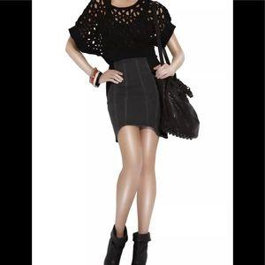 🌞Helmut Lang Asymmetrical Gray /Black denim skirt